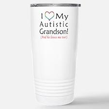 I Love my Autistic Grandson - Travel Mug