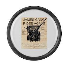 The James Gang Large Wall Clock