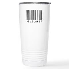 Developer Barcode Stainless Steel Travel Mug