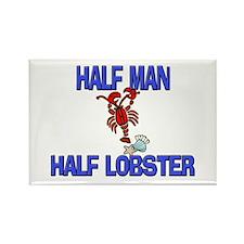 Half Man Half Lobster Rectangle Magnet
