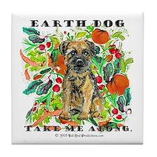 Border Terrier Environmental Tile Coaster