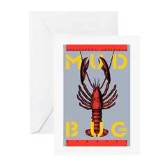 MudBug Madness No. 2 Greeting Cards (Pk of 10)