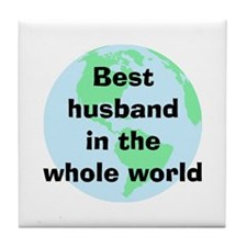BW Husband Tile Coaster