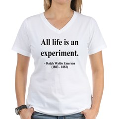 Ralph Waldo Emerson 34 Women's V-Neck T-Shirt