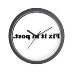 WTD: Fix it in post. Wall Clock