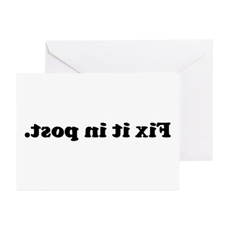 WTD: Fix it in post. Greeting Cards (Pk of 10)