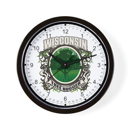Tree Hugger Wisconsin Wall Clock