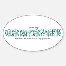 I Love My Composter Oval Decal