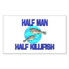 Half Man Half Killifish Rectangle Decal
