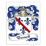Brossard Family Crest Small Poster