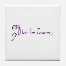 Cystic Fibrosis Hope Tile Coaster