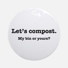 Let's Compost Ornament (Round)