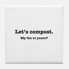 Let's Compost Tile Coaster