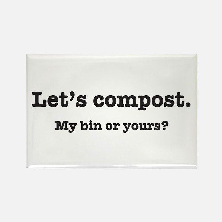 Let's Compost Rectangle Magnet (10 pack)