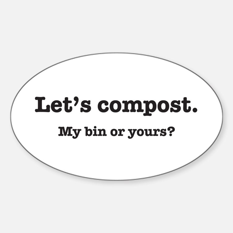 Let's Compost Oval Bumper Stickers