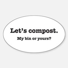 Let's Compost Oval Decal