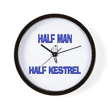 Half Man Half Kestrel Wall Clock