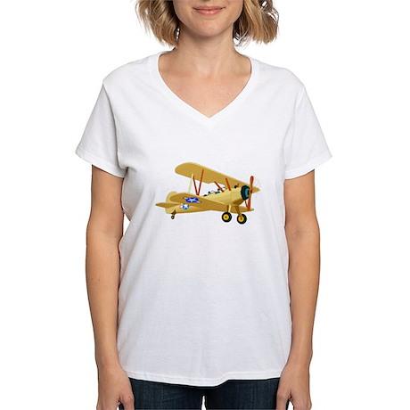 Bi-Plane Women's V-Neck T-Shirt
