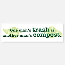 One Man's Trash Bumper Bumper Stickers