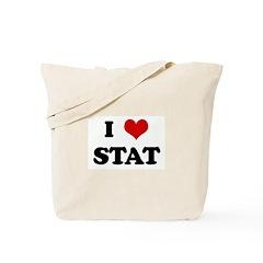 I Love STAT Tote Bag