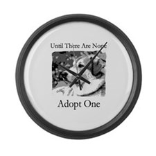 Until There are None For Dogs Large Wall Clock