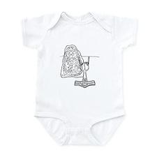 Rune Stone & Hammer Infant Bodysuit