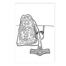Rune Stone & Hammer Postcards (Package of 8)