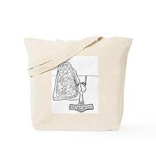 Rune Stone & Hammer Tote Bag