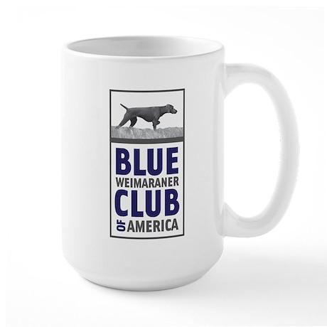 Blue Weimaraner Large Mug