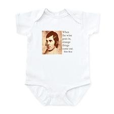ROBERT BURNS WINE QUOTE Infant Bodysuit