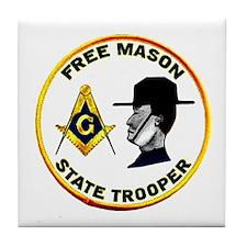Masonic State Trooper Tile Coaster