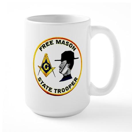 Masonic State Trooper Large Mug