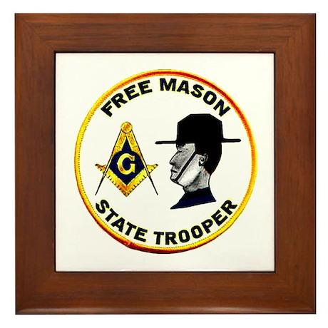 Masonic State Trooper Framed Tile