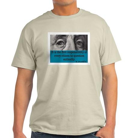 BEN FRANKLIN QUOTE Light T-Shirt