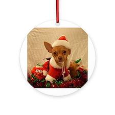 Cute Chihuahua Ornament (Round)