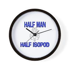 Half Man Half Isopod Wall Clock
