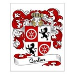Carlier Family Crest Small Poster