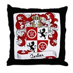 Carlier Family Crest Throw Pillow