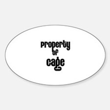 Property of Gage Oval Decal