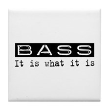 Bass Is Tile Coaster