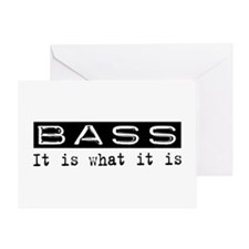 Bass Is Greeting Card