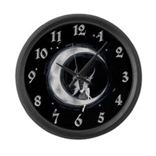 Amaris Moon Faerie Large Wall Clock