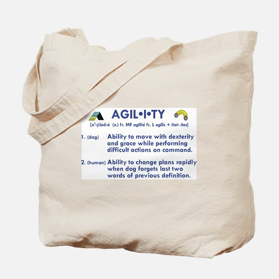 Definition of Agility Tote Bag