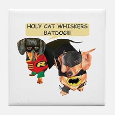 Batdog and Sidekick Tile Coaster