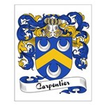 Carpentier Family Crest Small Poster