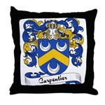 Carpentier Family Crest Throw Pillow