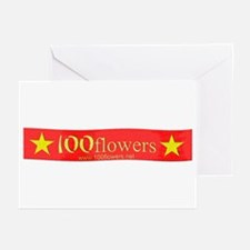 100flowers Greeting Cards (Pk of 10)
