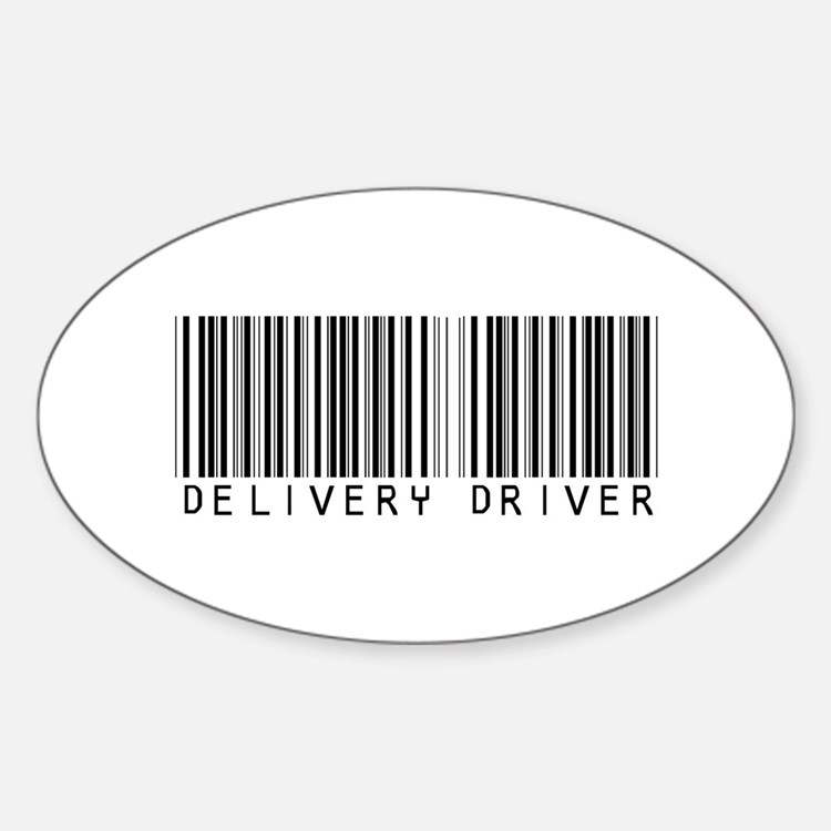 Delivery Driver Barcode Oval Decal