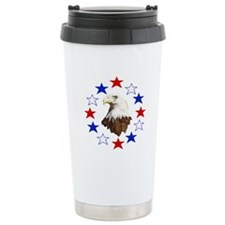 Bald Eagle American Star Travel Mug