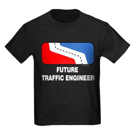 Traffic Engineer Kids Dark T-Shirt